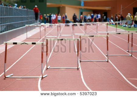 Start Of A Hurdles Race