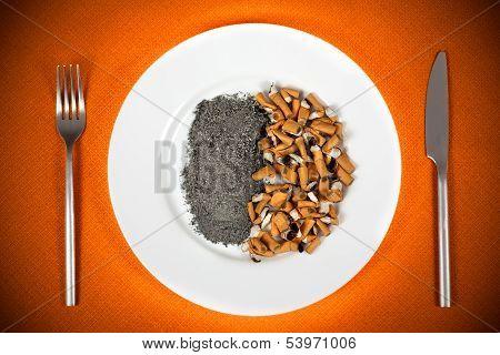 Cigarette Butts Dish
