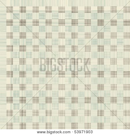 Seamless Geometric Textile Quilt Pattern
