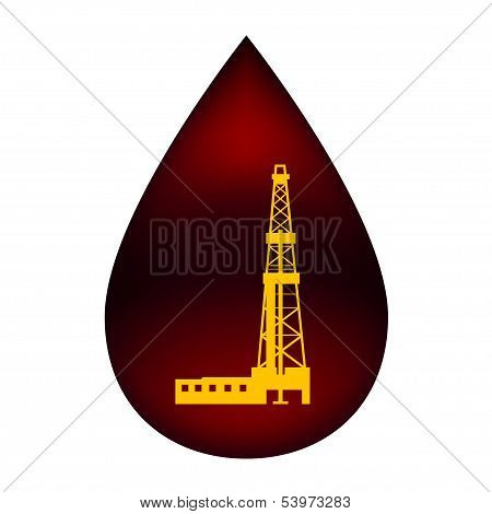 Rig in a drop of oil