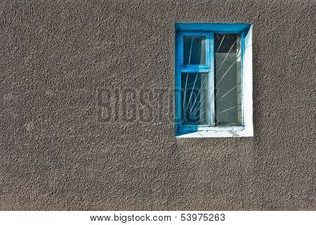Window On Gray Wall