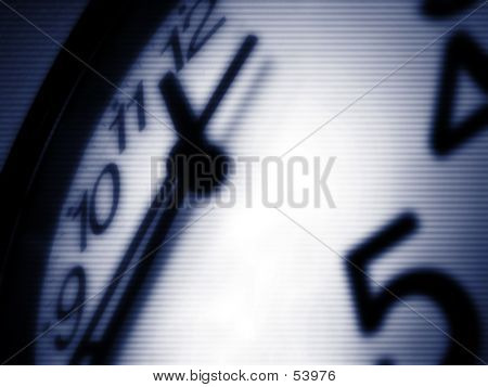 Striped Clock Face
