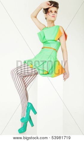 Ultramodern Woman. Fashion & Glamor. Studio shot.