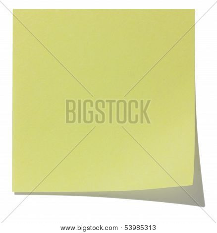 Square sticky note, and shadow