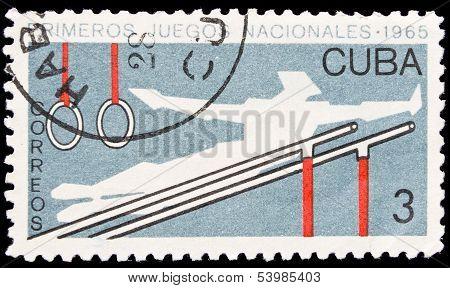 Cuba Stamp, First National Sport Games