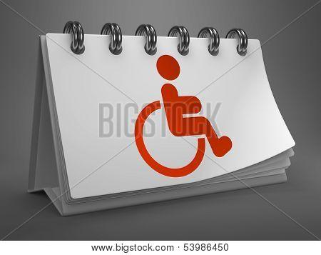 Desktop Calendar with Disabled Icon.