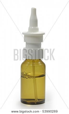 bottle with medicine,clipping path