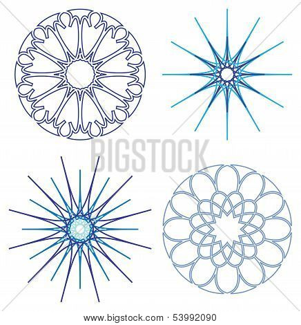 Diffrent Snowflakes Vector