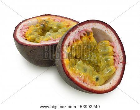 purple  passionfruit isolated on white background