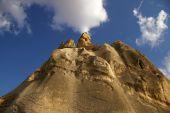 stock photo of babylon  - Cappadocia Turkey  limestone mountain near Goreme village - JPG