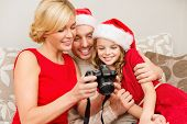 stock photo of merry chrismas  - family - JPG