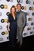 LOS ANGELES - NOV 12:  Kimberly Brook, James Van Der Beek at the GQ 2013