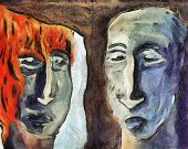 picture of oddities  - Mirroring abstract surreal painting  - JPG