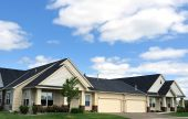 image of duplex  - Suburban Duplex Homes real estate copy space - JPG