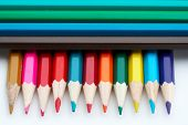 image of storyboard  - colored school pencils closeup - JPG