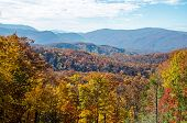 picture of gatlinburg  - A view of the Smoky Mountains near Gatlinburg Tennessee - JPG