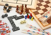 foto of draught-board  - Board games on white - JPG