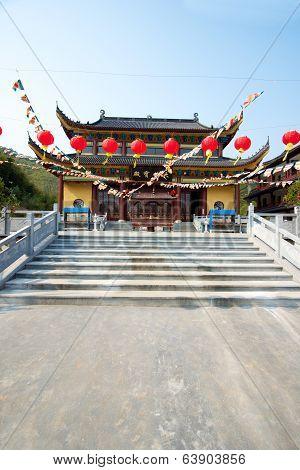 Chinese Temple In Moganshan