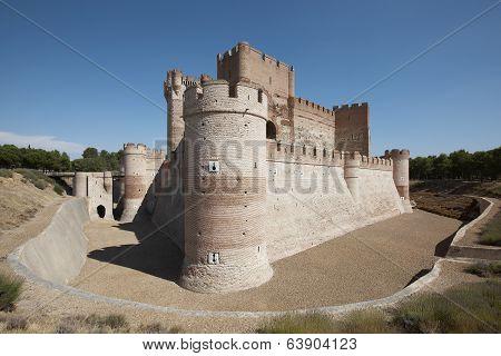 Antique Castle. Medieval. Medina Del Campo. Spain