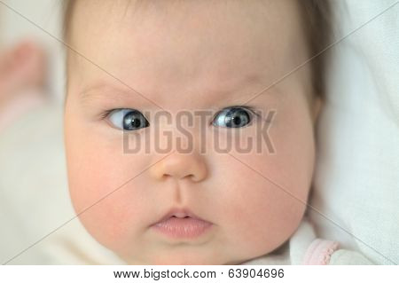 Newborn Baby Looking Aside