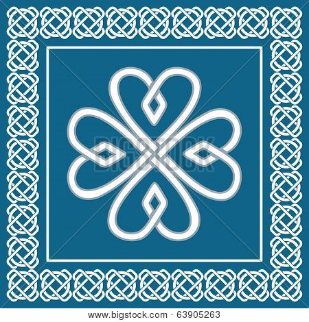 Shamrock - Celtic Knot,traditional Symbol Of Irish St.patrick Day, Vector Illustration