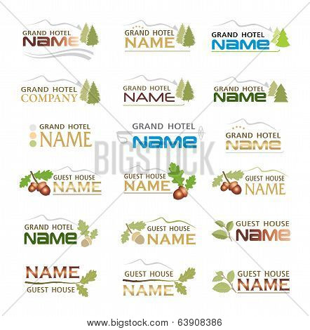 Graphic design brand  of mountain holiday hotel