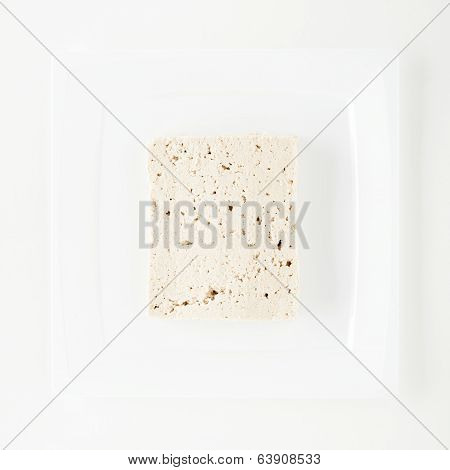 Tofu on White