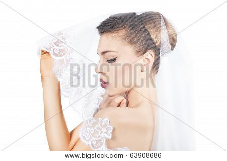 Portrait Of The Bride Veiled Veil.