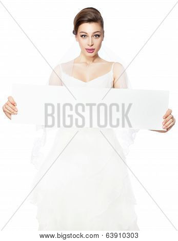 Bride's Holding Advertising Poster.