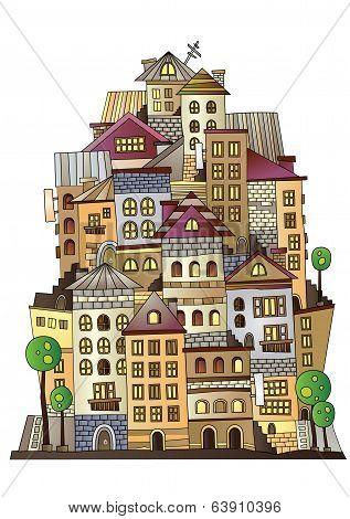 cartoon vector construction town
