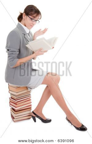 Woman And Book