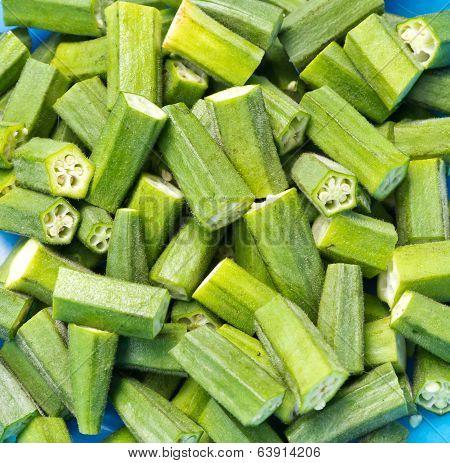 Fresh Okras Ready To Cook