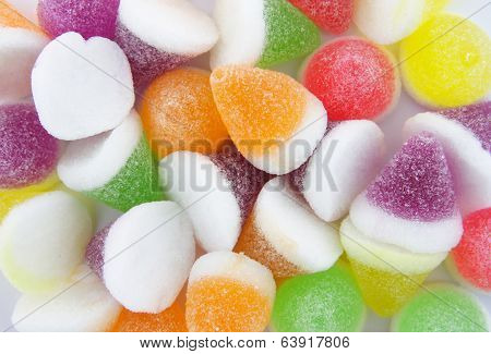 Colorful Jelly Candy Background