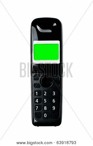Wireless Phone. Cordless Phone On White Background.