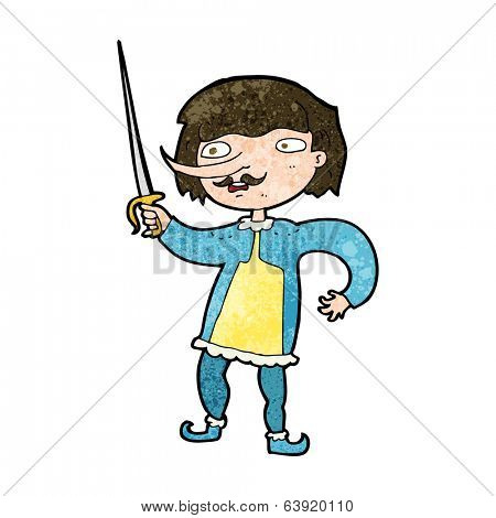 cartoon man with sword