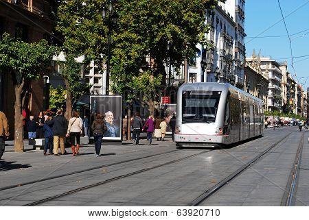 Spanish tram, Seville, Spain.