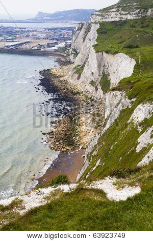 DOVER, UK - APRIL 12, 2014: White cliffs Dover, Britain
