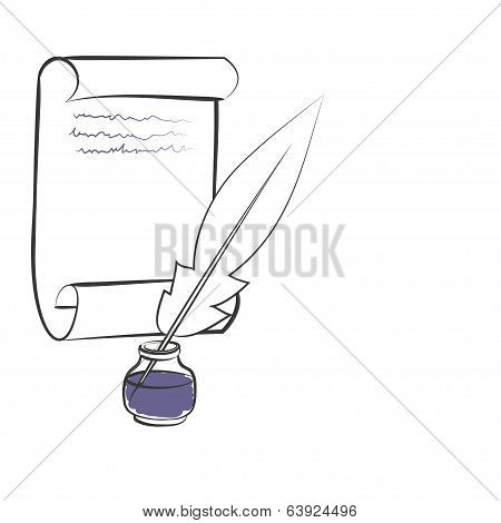 inkwell pen paper