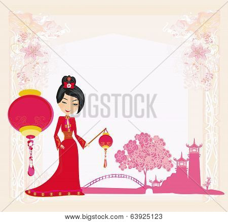 Mid-autumn Festival For Chinese New Year , Abstract Card