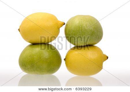 Lemons And Green Apples