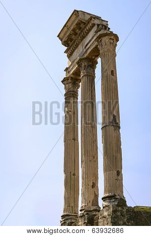 Three Roman Pillars