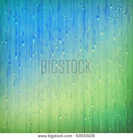 Colorful rain abstract grange rainy landscape