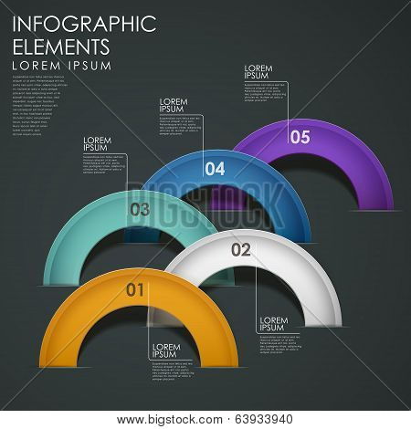 Vector Abstract Arch Infographic Elements