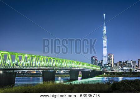 Tokyo, Japan skyline with Tokyo Skytree.