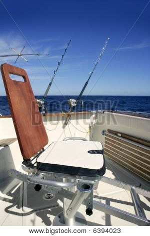 Big Game Boat Wooden Fishing Chair