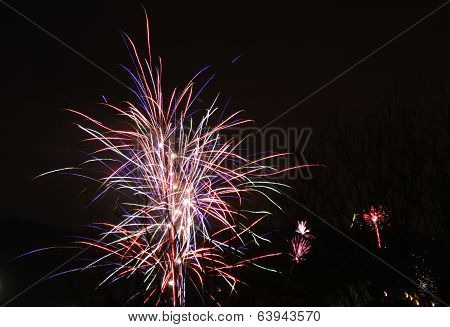 Fireworks Against A Black Night Sky