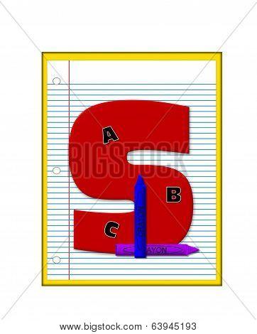 Alphabet Grade School Homework S