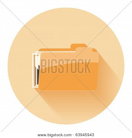 Folder Icon, Isolated On White