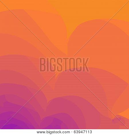 Red hot heat waves background blur