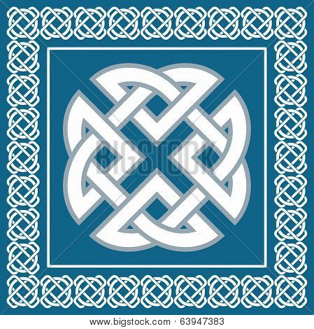Celtic Knot,symbol Represents Four Elements Earth, Fire, Water, Air,vector Illustration